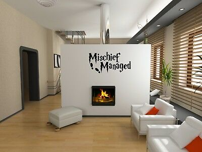 Mischief Managed Potter inspired wall vinyl/decal/sticker