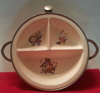 Antique/Vintage Baby Warming Feeding Bowl- Majestic Product Made in U.S.A.