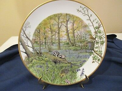 Peter Barrett COUNTRY YEAR Franklin Porcelain Plate Woodlands in APRIL