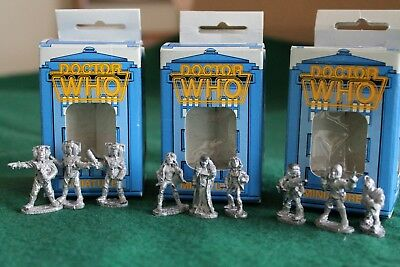Vintage Doctor Who Miniatures 3 Boxed Sets