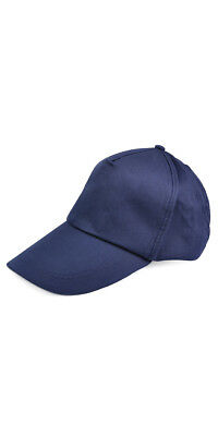 Baseball Cap Adjustable Cotton Sun 5 Panel Sport leisure - Navy Blue L9H7 f9ff7561677c