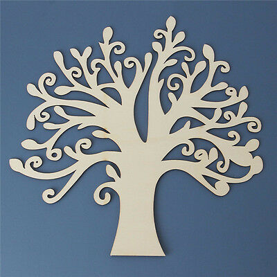 Tree Shaped Wooden Craft Blank  Wedding Guestbook Family Tree Craft Home