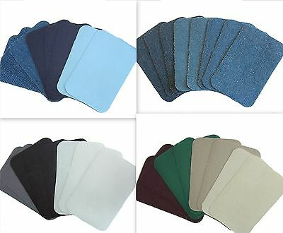 Iron On Mending Patches Repair Fabric Material 8 pieces / pack