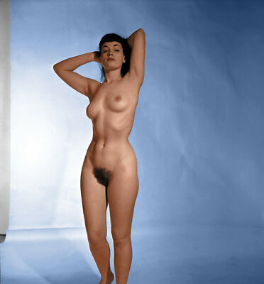 Bettie Page nude pinup 8x8 print 034