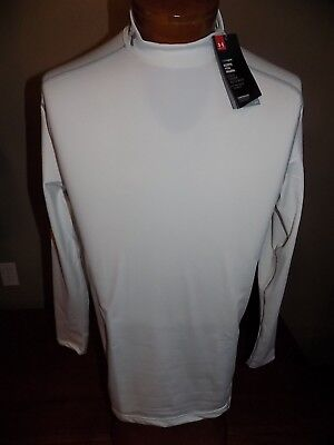 NWT Under Armour Men's ColdGear® Compression Mock Long Sleeve Shirt LARGE $49.99
