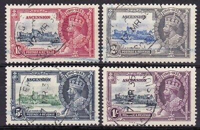 ASCENSION #33-36 USED 25th ANNIV. REIGN OF KING GEORGE V