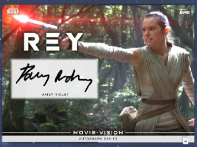 Topps Star Wars Card Trader Movie Vision Signature Daisy Ridley as Rey Black