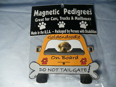 Magnetic Pedigrees Do Not Tailgate Magnets Goldendoodle On Board