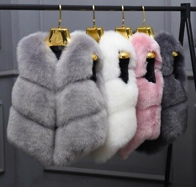 Women Faux Fur Vest Waistcoat Short Outwear Winter Warm Hot Sale Cardigan New