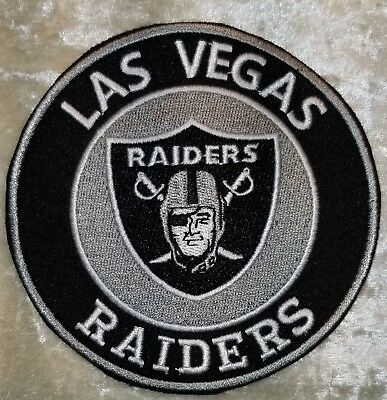 "Las Vegas Raiders  4"" Round Iron On Embroidered Patch ~USA Seller~FREE Ship!"