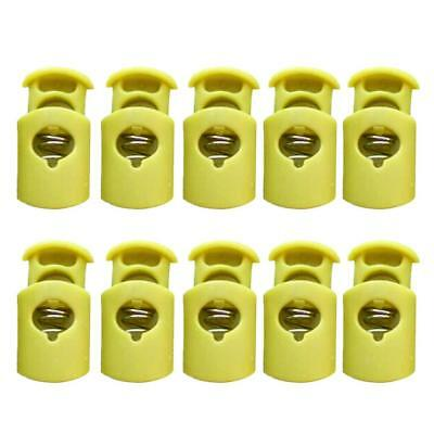 10pcs Heavy Duty Plastic Barrel Spring Cord Lock Draw String Toggle Stopper