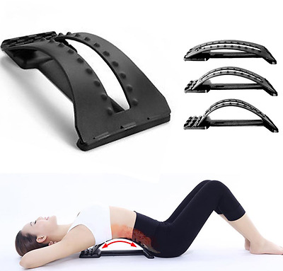 NEW Magic Back Support Stretcher Massage Relaxing Lower Lumbar Spine Pain Relief