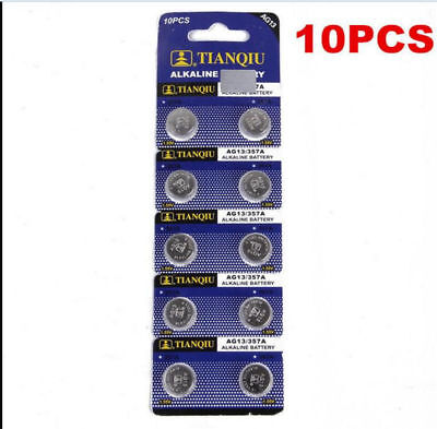 LR44 AG13 SR44 L1154 357 A76 1.5V Alkaline Button Cell Battery Batteries 10Pcs