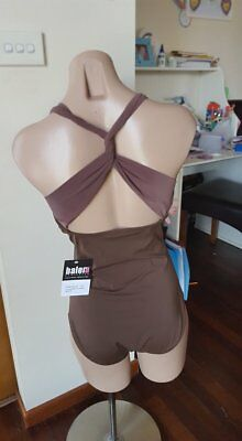 Balera Mocha Wide Strap Twist Back Leotard dance ballet Troup Solo szMA BNWT (3)