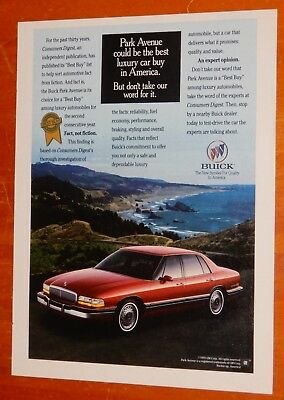 1993 Buick Park Avenue In Red Beautiful & Cool Ad - Retro American Luxury 1990S