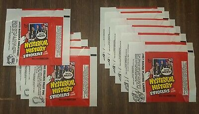 (10) 1976 Topps Hysterical History Empty Wrappers 0-430-21-01-6 #470 #465 #467