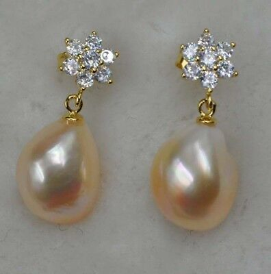 11-12mm Various 100% real pearl dangle earring #Q30169 Free shipping