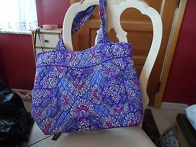 Vera Bradley Pleated tote in Lilac Tapestry