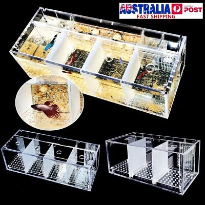 Acrylic Clear Aquarium Baby Betta Fish Tank Guppy Breeding Rearing Hatchery Box