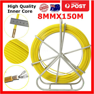 8mm 150M Fiberglass Wire Cable Running Rod Snake Fish Rodder Puller Flexi Lead