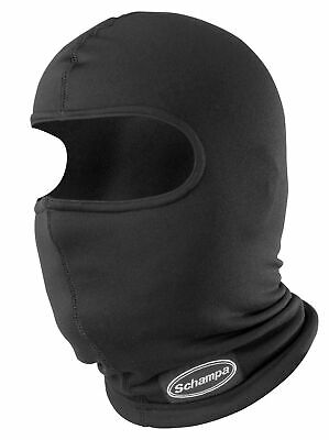 SCHAMPA BLACK FACEFIT TIE BACK FACE MASK MESH BREATHER OFF ROAD STREET BIKE OS