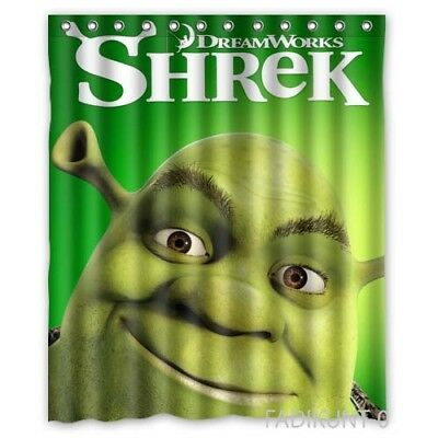 Shrek Custom Shower Curtains 60x72 Inch Polyester