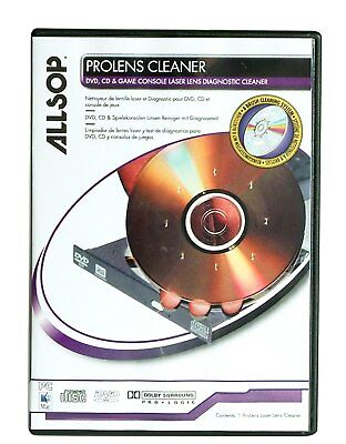 Allsop ProLens Laser Lens Diagnostic DVD CD Cleaning Kit Remover Cleaner