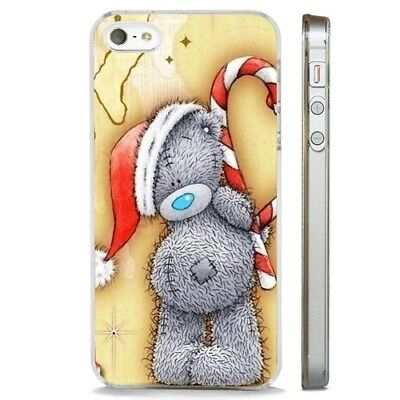 Christmas Teddy Bear Cute Love HeCLEAR PHONE CASE COVER fits iPHONE 5 6 7 8 X