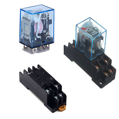 10A AC 220V Coil Power Relay DPDT LY2NJ HH62P HHC68A-2Z With Socket Base BSG
