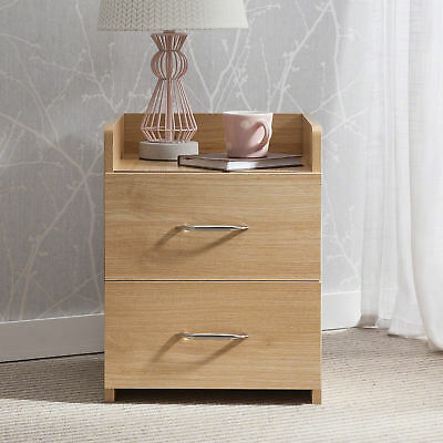Bedside Table Nightstand Unit Cabinet / with 2 Drawers - Laura James Premium