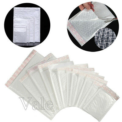 10~100x Poly Bubble Mailers Padded Envelope Self-Sealing Shipping Bags Lot Sizes