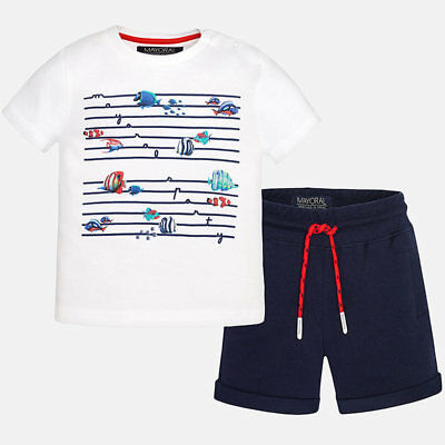 Mayoral Boys Polo Shirt and Shorts 1683 age 12 months and 36 months
