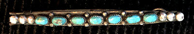 Rare Navajo Gorgeous Hair Clip Ornament Natural Turquoise earlymid-Century