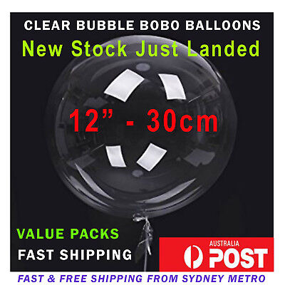 Large Round Giant Clear Transparent Bobo Balloons - 45Cm Value Packs
