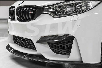 BMW M3 F80 M4 F82 F83 - CARBON - Front Flaps Frontlippe Spoiler Ecken small WOW!