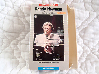 Randy Newman Live At The Odeon Vhs In Concert Nyc 80'S Linda Ronstadt Ry Cooder