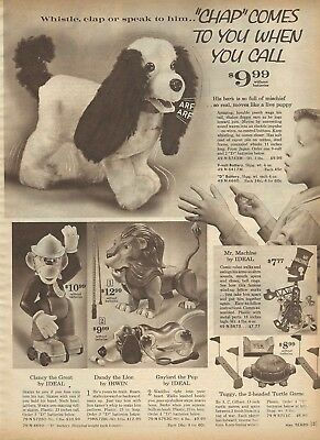 1963 Xmas cat pg Ideal Clancy The Great Irwin Dandy the Great Gaylord the Pup