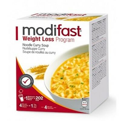 MODIFAST Programm Suppe Nudelsuppe Curry 4x55g leichter abnehmen PZN 13336032