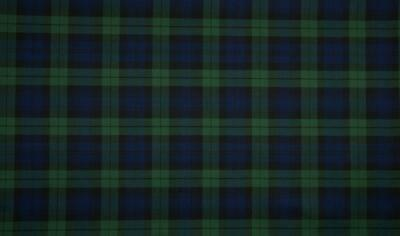 SCOTTISH CHECK Tartan Fabric Material - LG BLACKWATCH