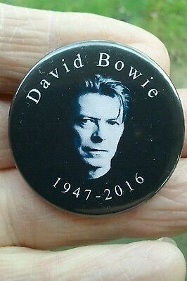 David Bowie.1947-2016, Keepsake for a sadly missed artist 38mm pin