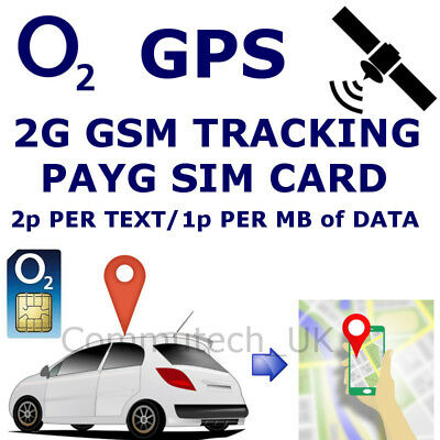 2G GSM Sim Card for Car GPS Tracker Tracking Devices 2p per Text 1p per MB O2