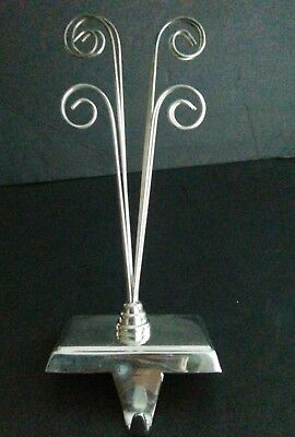 New Pottery Barn Christmas Holiday Silver Frame Stocking Holder
