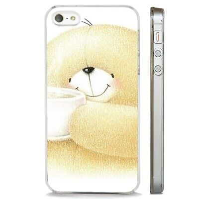 Teddy Bear Cute Love Happy CLEAR PHONE CASE COVER fits iPHONE 5 6 7 8 X