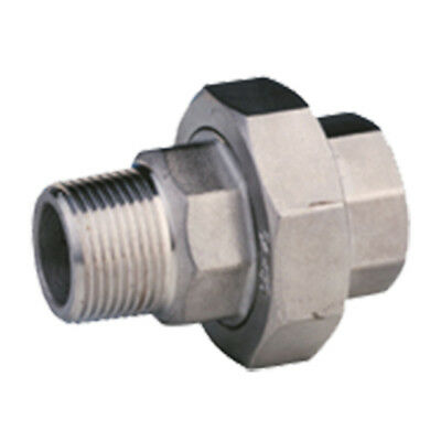 """STAINLESS STEEL 316 BSP MALE/FEMALE UNION - 1/4"""" To 2""""  -  RATED 150lb"""