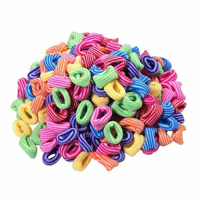 Pack Of 50 Striped Assorted Colours Girls Kids Elastic Hair Band Bobbles