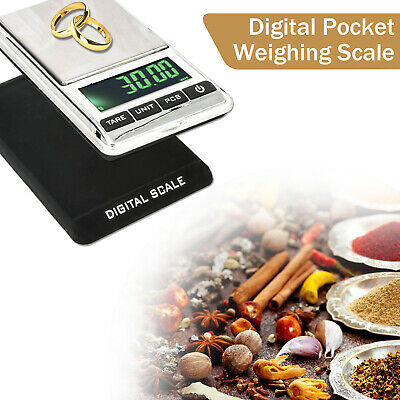Pocket Digital Scales Jewelery Gold Weighing Mini LCD Electronic 0.1g to 1000g