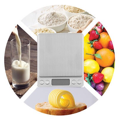 Stylish Silver LCD Pocket Scale for Weighing Gold Herbs Jewellery 0.01 - 3000g