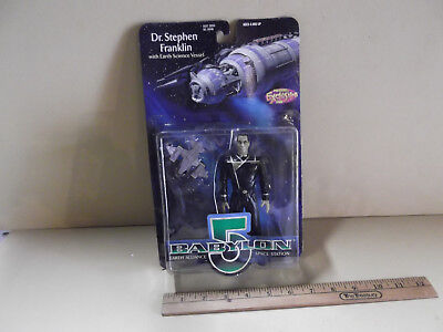 "Babylon 5 Dr. Stephen Franklin 6""in Action Figure w/Earth Science Vessel WB 1997"