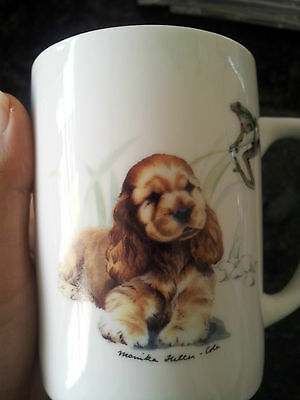 Collector Monika Heller Cole mug puppy frog dog cocker spaniel