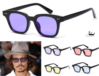 Occhiali Da Sole Hot 2018 Quadri Johnny Moscot Vintage Casual Depp Fume' Ultimat